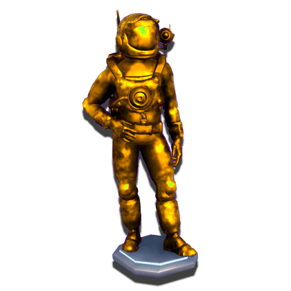 Preview of Gold Astronaut Statue
